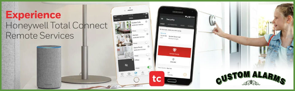 Honeywell Total Connect Remote Services from Custom Alarms in Mendon, MA